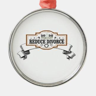 verringert Schutz 50 50 Scheidung Silbernes Ornament