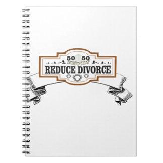 verringert Schutz 50 50 Scheidung Spiral Notizblock