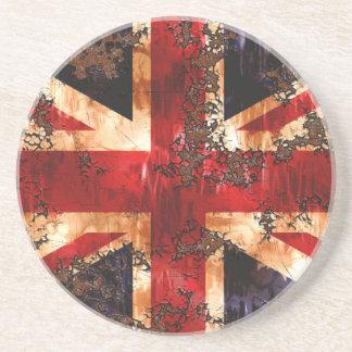 Verrostete patriotische Königreich-Flagge Getränkeuntersetzer