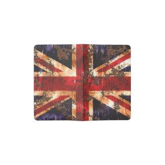 Verrostete patriotische Königreich-Flagge Moleskine Taschennotizbuch