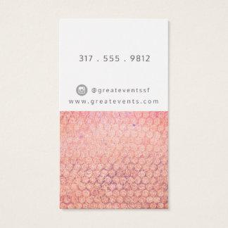 Verrostetes Rosa und Pfirsich punktierte Visitenkarte