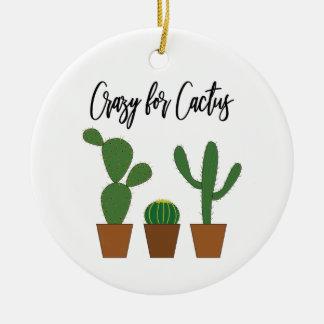 Verrückt für Kaktus-Verzierung Keramik Ornament
