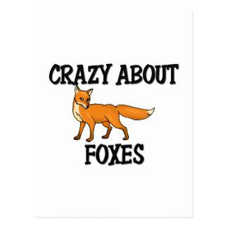 Verrückt über Füchse Postkarte