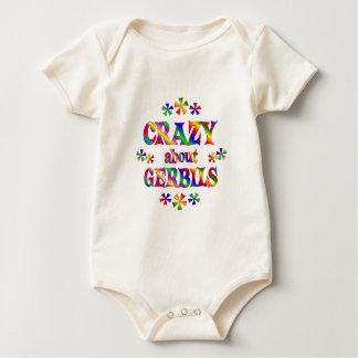 Verrückt über Gerbils Baby Strampler
