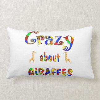 Verrückt über giraffen zierkissen