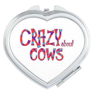 Verrückt über Kühe Schminkspiegel