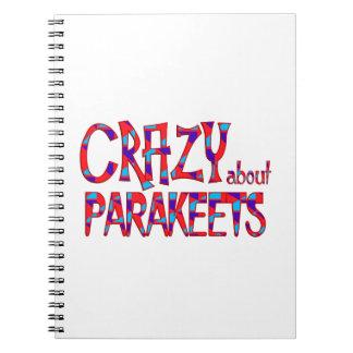 Verrückt über Parakeets Notizblock