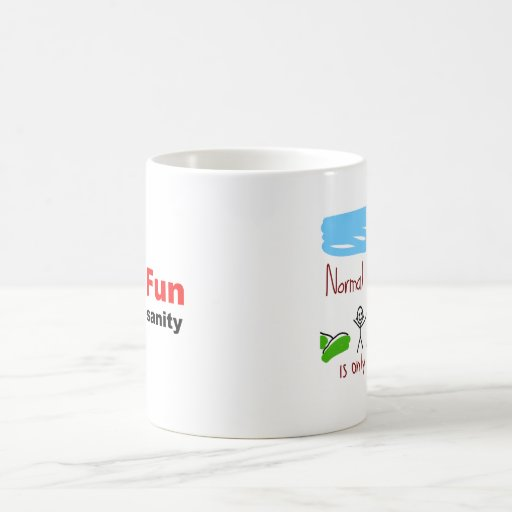Verrückt und voll vom Spaß Kaffee Tasse