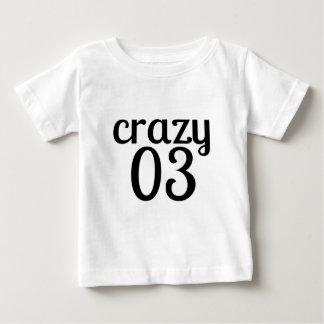 Verrückte 03 Geburtstags-Entwürfe Baby T-shirt
