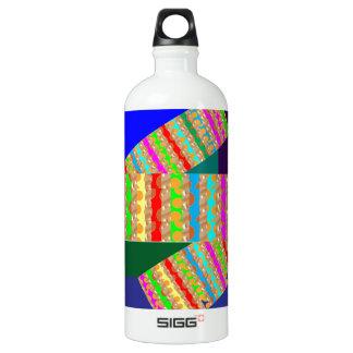 VERRÜCKTE abstrakte Kunst genießen an eine andere Aluminiumwasserflasche
