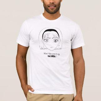 Verrückte Alice auf bloßem T-Shirt