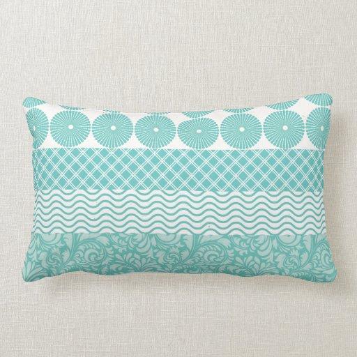 verr ckte aquamarine blaue muster kreis karierte m kissen. Black Bedroom Furniture Sets. Home Design Ideas