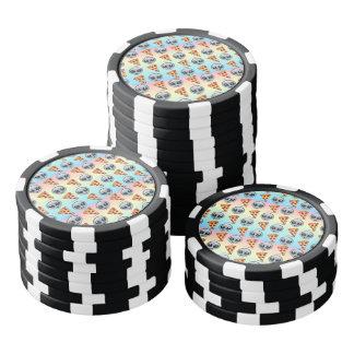 Verrückte Außerirdische u. Pizza Emoji Muster Poker Chip Set
