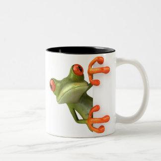 Verrückte Baum-Frosch-Kaffee-Tasse Zweifarbige Tasse