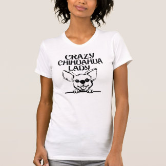 Verrückte Chihuahua-Dame T-Shirt