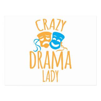 verrückte Dramadame Postkarte