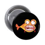 Verrückte Fische Anstecknadelbuttons