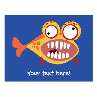 Verrückte Fische Postkarte