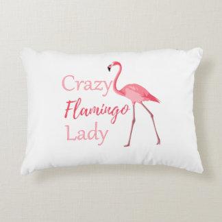 Verrückte Flamingo-Dame Funny Flamingo Dekokissen