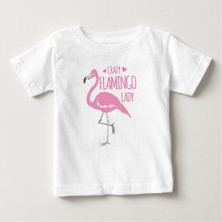 Verrückte Flamingodame Baby T-shirt