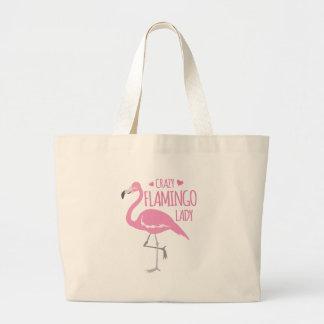 Verrückte Flamingodame Jumbo Stoffbeutel