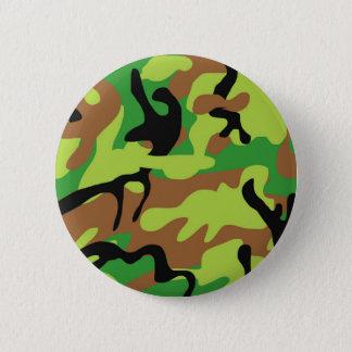 Verrückte Forrest grüne Camouflage Runder Button 5,7 Cm