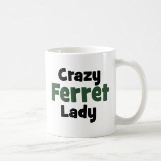 Verrückte Frettchen-Dame Kaffeetasse