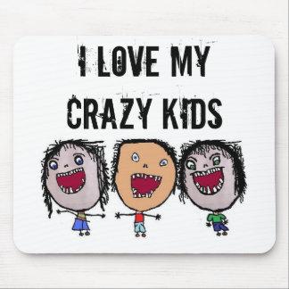 Verrückte Gesichts-Cartoon-Kinder Mousepads