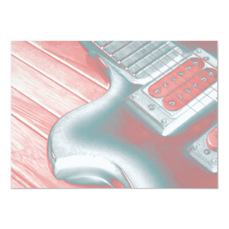Verrückte Gitarren-Erwägungsgrunden-Karte 12,7 X 17,8 Cm Einladungskarte