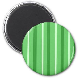 Verrückte grüne Streifen Runder Magnet 5,1 Cm
