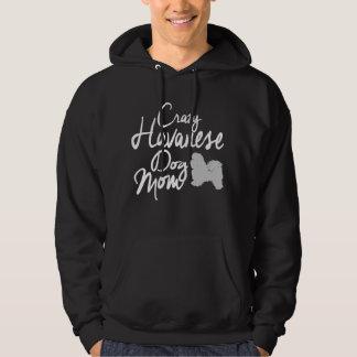 Verrückte Havanese Hundemamma Hoodie
