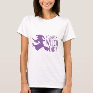 Verrückte Hexe-Dame T-Shirt
