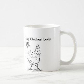 Verrückte Huhn-Dame Coffee Mug Kaffeetasse