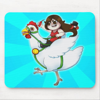 Verrückte Huhn-Fahrt - Mausunterlage Mousepad