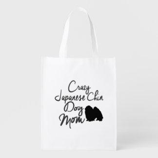 Verrückte Japanerchin-Hundemamma Wiederverwendbare Einkaufstasche