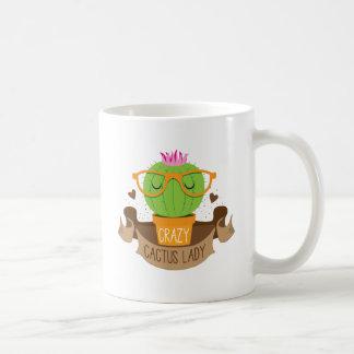 verrückte Kaktusdamenfahne Kaffeetasse