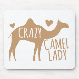 Verrückte Kamel-Dame Mauspads