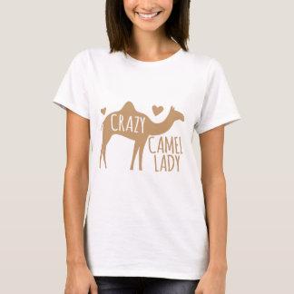 Verrückte Kamel-Dame T-Shirt