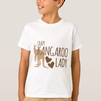 Verrückte Känguru-Dame T-Shirt