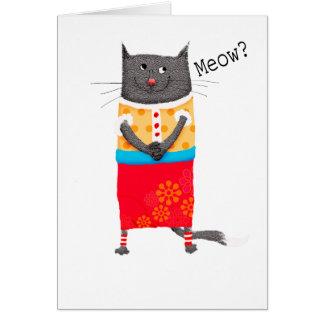 Verrückte Katze, Meow. Karte