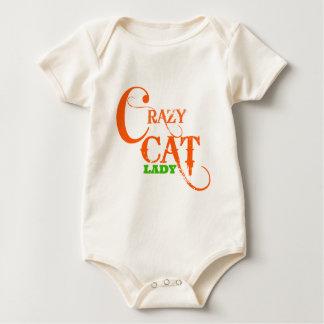 Verrückte Katzen-Dame Collection Baby Strampler