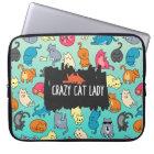Verrückte Katzen-Dame Cute und Playful Laptopschutzhülle