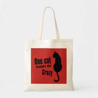 Verrückte Katzen-Dame Funny Meow Tote Bag Tragetasche