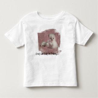 Verrückte Katzen-Dame In Training Kleinkind T-shirt