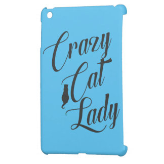 Verrückte Katzen-Dame Pet Cat Lover iPad Abdeckung iPad Mini Hülle