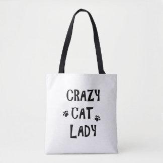 Verrückte Katzen-Dame Tasche