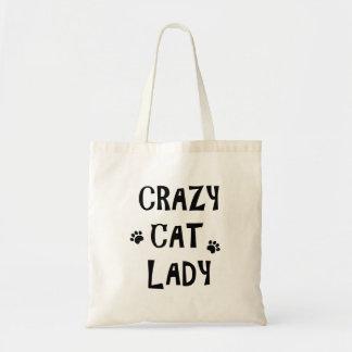 Verrückte Katzen-Dame Tragetasche