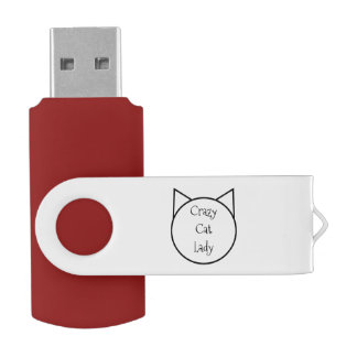 Verrückte Katzen-Dame USB Stick