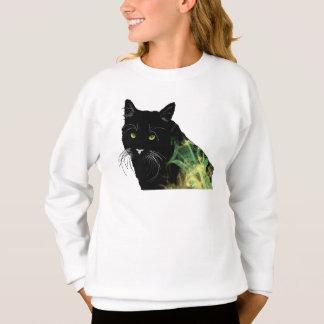 Verrückte Katzen-Entwürfe Sweatshirt