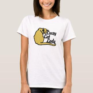 Verrückte Katzendame T-Shirt